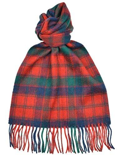 - Lambswool Scottish Robertson Red Modern Tartan Clan Scarf Gift