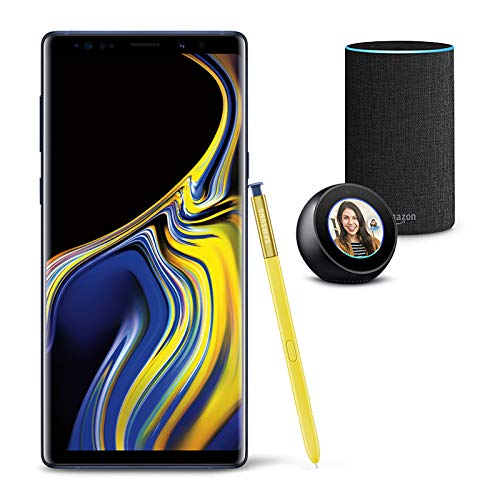 Samsung Galaxy Note 9 Unlocked Phone 512GB, Ocean Blue with Echo Spot and Echo (2nd Generation) - Smart Speaker with Alexa