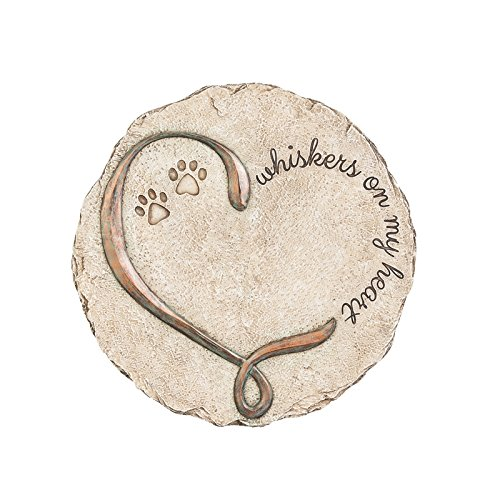 New Creative Whiskers on My Heart Resin Decorative Garden Memorial Stone by New Creative