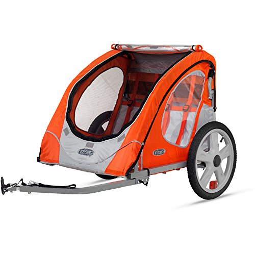 InStep Robin Two Seat Portable Bike Trailer for Children or Pets (Blue) (Instep 2 Bike Trailer)