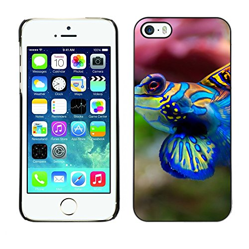 [ For APPLE IPHONE 5 / 5S ][ Xtreme-Cover ][ Coque Rigide Case Cover ] - Cute Neon Coral Fish