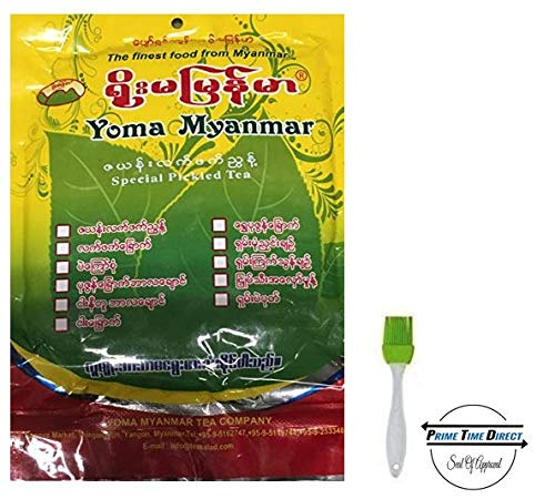 - Yoma Pickled Tea Dressing Leaves 8oz (Pack of 3) with Silicone Basting Brush in a Prime Time Direct Sealed Bag