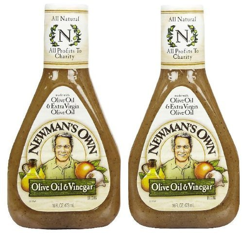 Newman's Own Olive Oil & Vinegar Dressing, 16 oz, 2 pk
