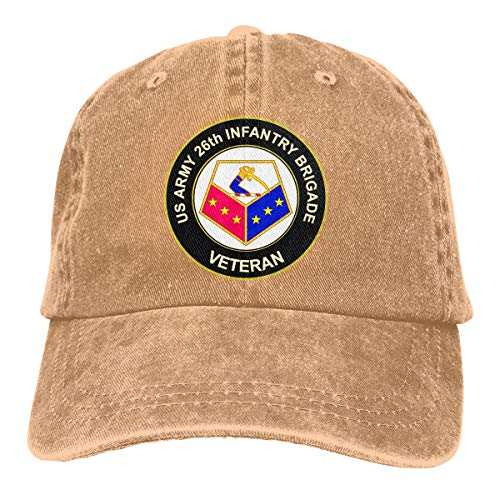 Yiyuan U.S. Army 26th Infantry Brigade Unit Crest Veteran Neutral Adjustable Baseball Cap