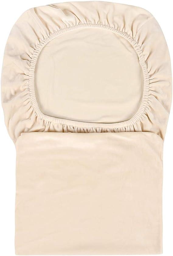 a tinta unita Large Beige Set of 2 in tessuto peluche di elastan a pelo corto Fodera elasticizzata in velluto per sedia per la decorazione della casa
