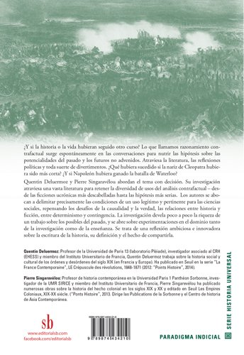 Hacia una historia de los posibles: análisis contrafactuales y futuros no acontecidos: Amazon.es: Quentin Deluermoz, Pierre Singaravélou: Libros