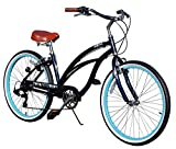 Cheap Fito Women's Marina Aluminum Alloy 7-Speed Beach Cruiser Bike, Midnight Blue, 15.5″ x 26″/One Size