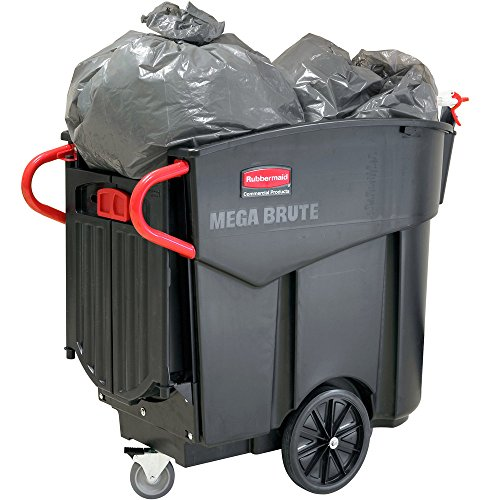 Rubbermaid Mega Brute Black FG9W7300BLA 120 Gallon Executive Series Mobile Waste ()