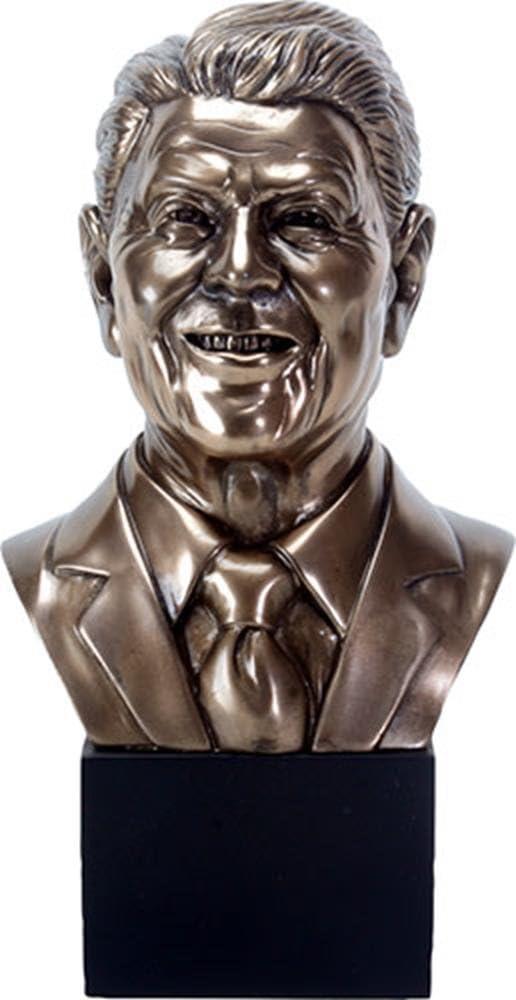 YTC 9.25 Inch Bronze Colored President Ronald Reagan Head Sculpture