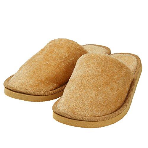 Orange Fuzzy Oasap Toe Indoor Solid Slippers Round Men's Brief qRR8xpv