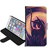 iPhone SE Case, iPhone 5s 5 Case, Pokemon Umbreon PU Leather Folio Flip Wallet Case Cover with ID Credit Card Holder with Stand for iPhone 5s/5/SE + Thewart_Eight® Stylus Pen (#139)