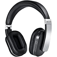 Wireless Headphones with Mic, AudioMX Over-Ear Stereo Bluetooth Headphones with AptX Low Latency, Noise Isolation (Alloy Sliver)