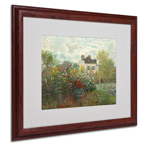 (The Artist's Garden Canvas Wall Art by Claude Monet with Wood Frame, 16 by 20-Inch)