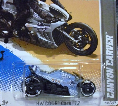 HOT WHEELS 2012 CROTCH ROCKET CANYON CARVER 235/247 DIE CAST MOTORCYCLE BIKE 10 OF 22 IN SERIES by Hot Wheels