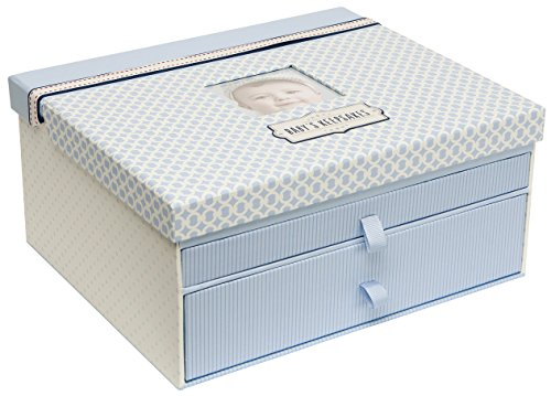(C.R. Gibson Blue Baby Boy Keepsake Box, 12.5'' W x 10.25'' H)