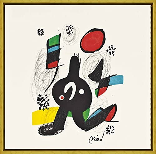 Berkin Arts Framed Joan Miro Giclee Canvas Print Paintings Poster Reproduction La Melodie Acide Galerie Lucie Well