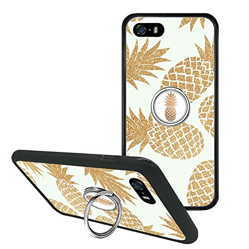 Davidmasonrise Compatible iPhone SE 5s 5 Pineapple Phone Case Phone Grip Stand Holder, if Applicable