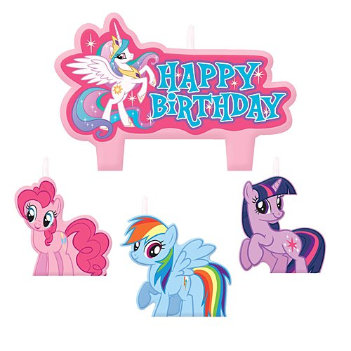 Mini Molded Cake Candles | My Little Pony Friendship Collection | Birthday ()