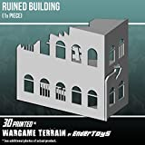 Ruined Building, Terrain Scenery for Tabletop 28mm Miniatures Wargame, 3D Printed and Paintable, EnderToys