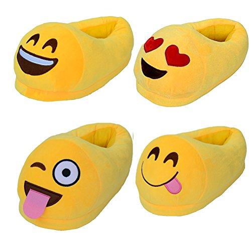 Gaorui Mignonne Emoji Fille Femmes Hiver Chaud Maison Chaussures En Peluche Drôle Confort Intérieur Pantoufles Forme De Caca
