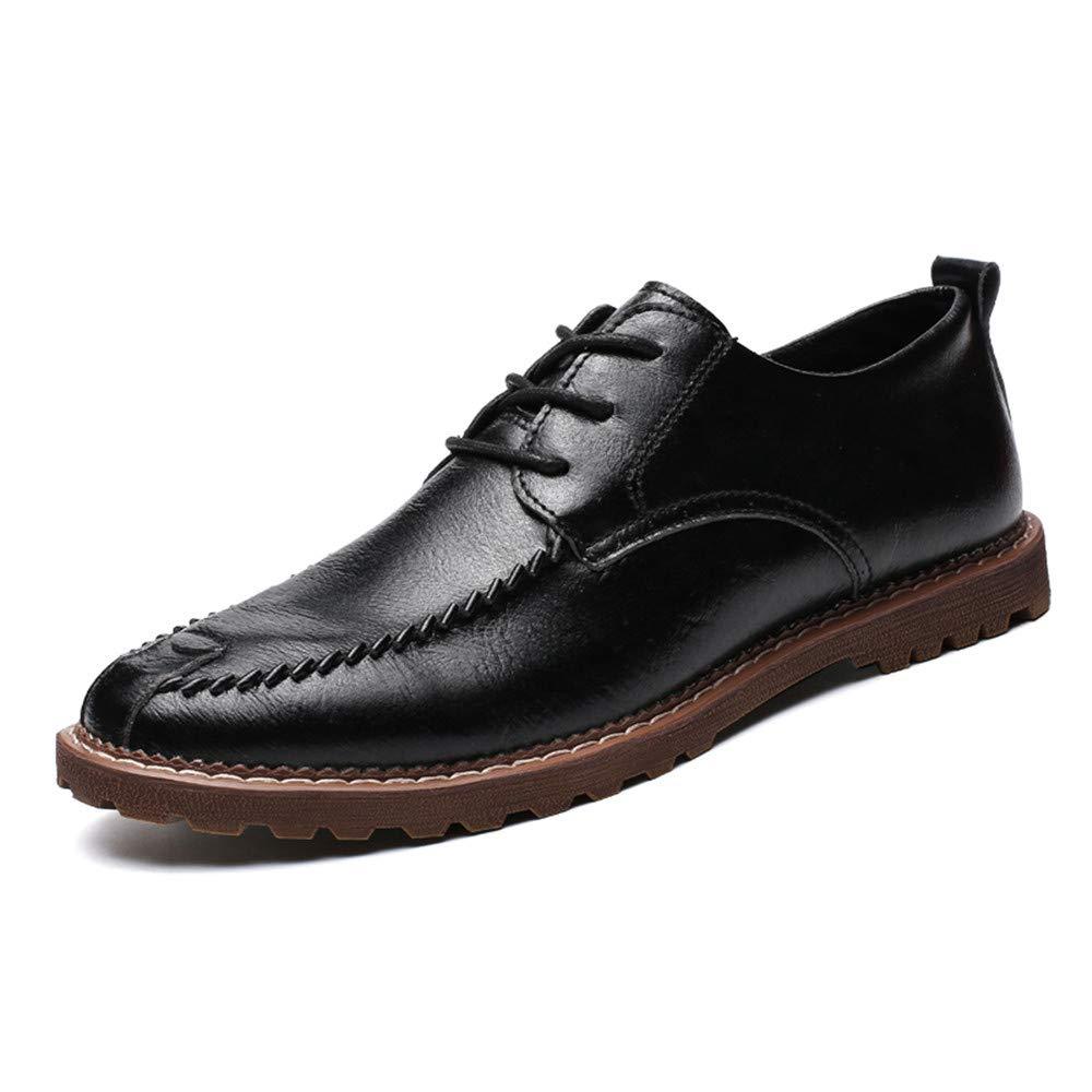 Xiaojuan schuhe, Männer Casual Business Oxford Einfache Schuhe Klassische Runde Kappe Formale Schuhe Einfache (Warm Optional), Frühjahr/Sommer 2018 (Farbe : Warm Gray, Größe : 46 EU) Schwarz 7a3a49