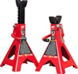 Torin Big Red Steel Jack Stands: Double Locking, 3 Ton (6,000 lb) Capacity, 1 Pair