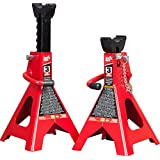 Torin T43002A Big Red Steel Jack Stands: Double Locking, 3 Ton Capacity, 1 Pair