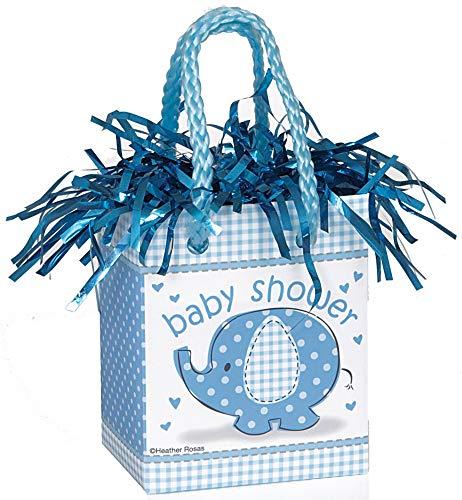 (Blue Elephant Boy Baby Shower Balloon Weight)
