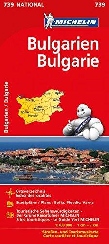 Michelin Bulgarien: Strassen- und Tourismuskarte (MICHELIN Nationalkarten, Band 739)