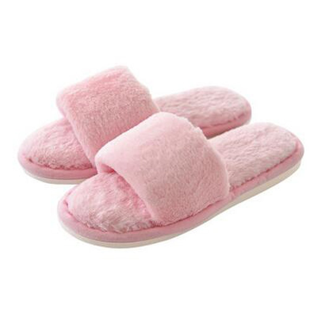 Fashion Ladies Winter Warm & Cozy Indoor Shoes Skidproof House Slipper, Pink Blancho Bedding