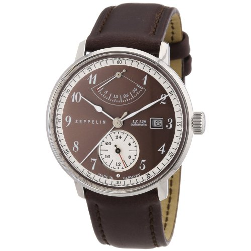 Zeppelin LZ129 Hindenburg Automatic Watch with Power Reserve and 24hr Subdial 7060-5