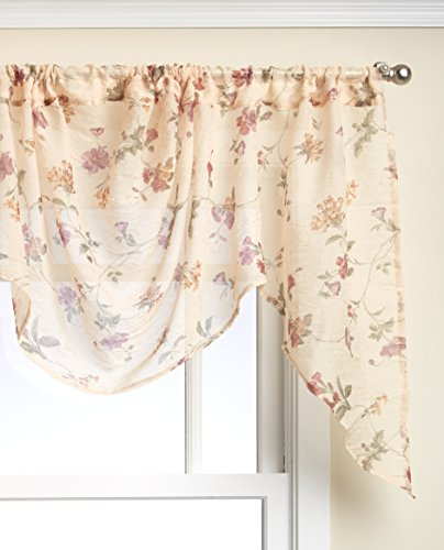 LORRAINE HOME FASHIONS Brewster Tailored Window Curtain Panel, 51 by 63-Inch, - Garden Valance Tailored