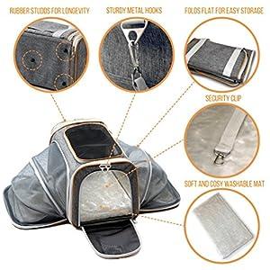 1772763016 PETYELLA Airline Approved Pet Carrier + Fleece Blanket & Bowl - 100%  Lifetime Satisfaction 6