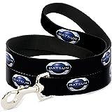 Buckle Down Dog Leash - 2012 Datsun Oval Logo Black Blue White