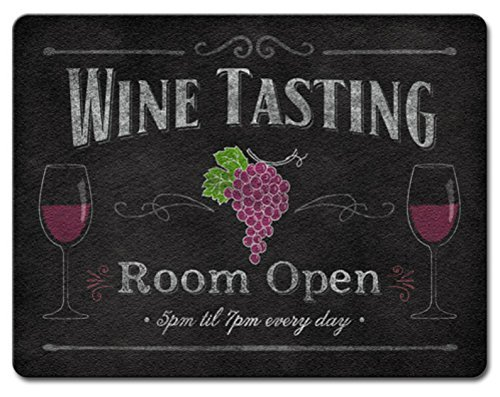 Wine Tasting Decor (Wine Tasting Room Open Tempered Glass Large 15 Inch Kitchen Cutting Board by Highland Graphics)