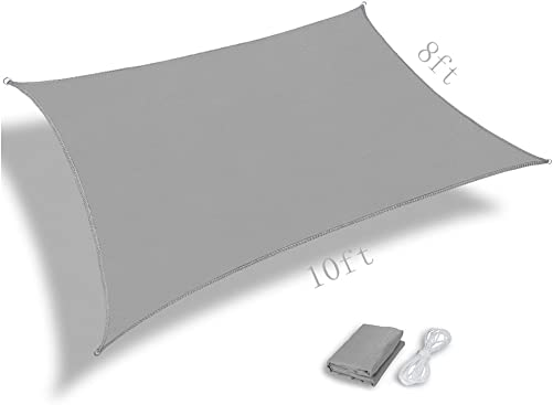 Pannow 8' x 10' Rectangle Sun Shade Sail