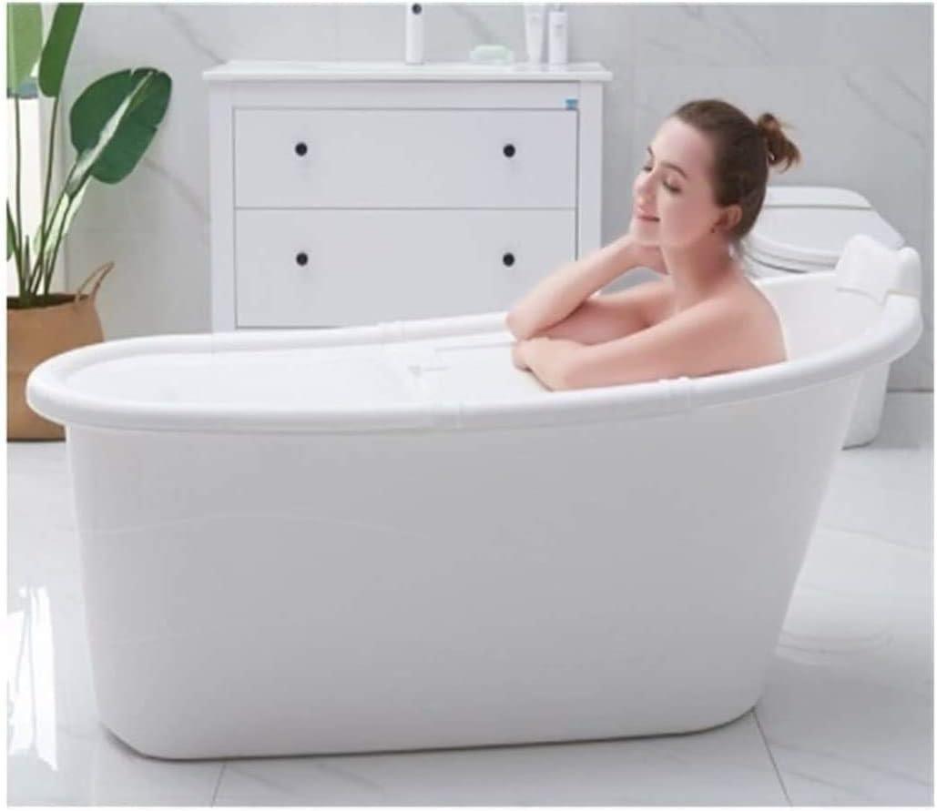 Lloow Baño móvil, Elegante y el Barril atmosférica baño Adultos engrosadas baño de Barril de plástico Barril Grande bañera hogar de Cuerpo Completo baño en barrica, tamaño 2020