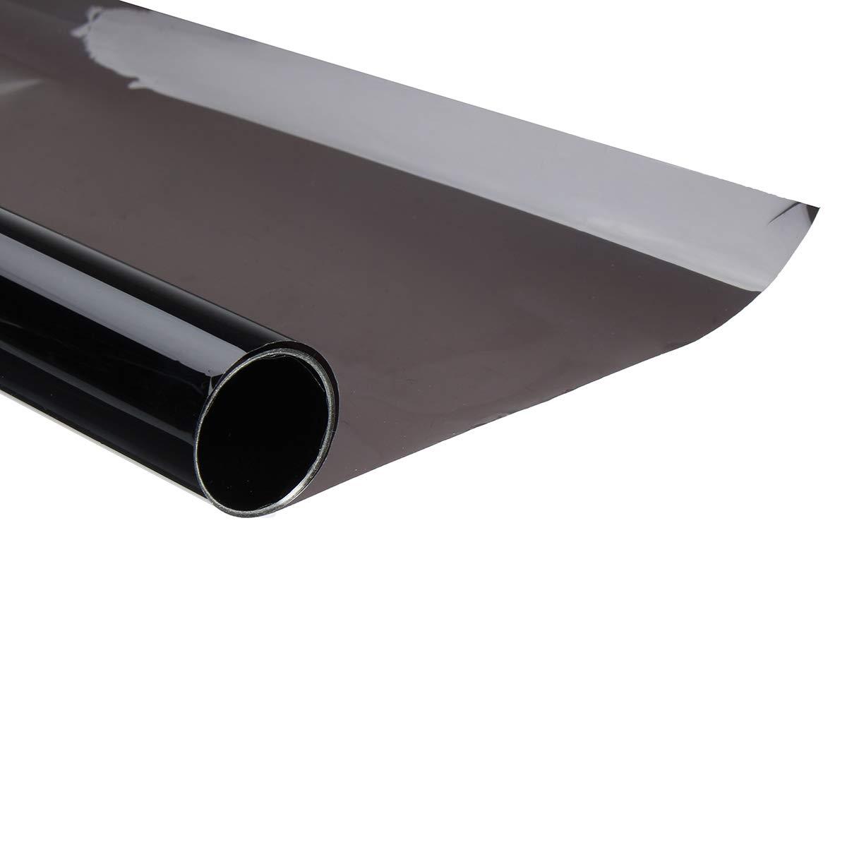 Viviance /50 cm X 2 Mt 15/% VLT Schwarz Auto Glas Fenstert/önung Schatten Filmrolle F/ür Home Office Boot