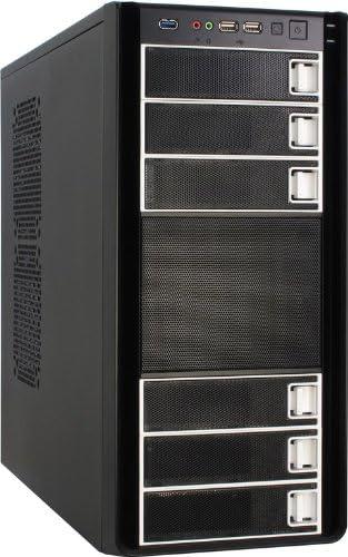 Inter-Tech K-Six Smart - Caja de Ordenador (PC, ATX, uATX, Negro, 12 cm, 120, 140 mm, 92, 120 mm): Amazon.es: Informática