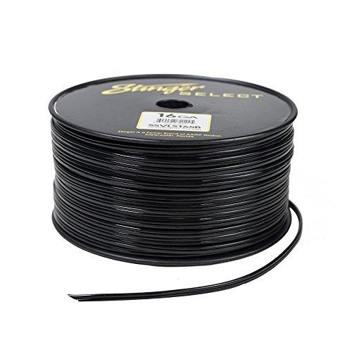 Stinger SSVLS165B 16Ga Black Speaker Wire 500ft by Stinger
