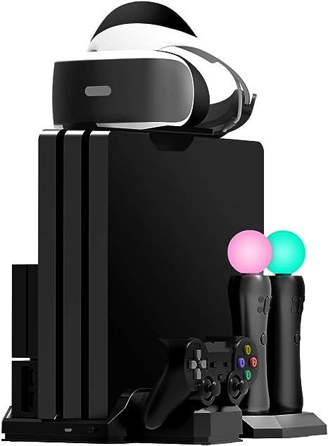 Fisound PS4 Game Stand Cargador y soporte vertical Estación de ...