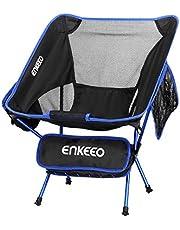 ENKEEO Campingstuhl Faltstuhl Klappbar Campingstühle Ultraleicht Angelstuhl Klappstuhl Moonchair Camping Hocker mit Rückenlehne, Tragetasche für Angeln, Wandern, Picknick, bis zu 150kg