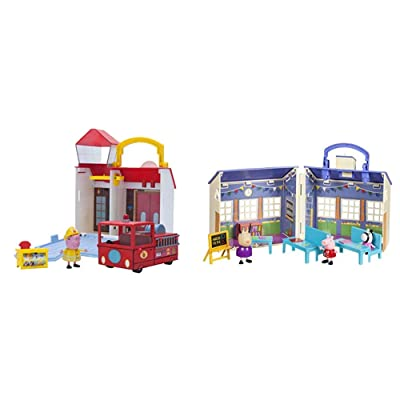 Peppa Pig Fire Station Combo Pack & School Playset: Toys & Games
