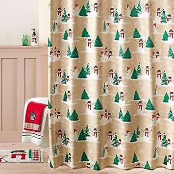 St. Nicholas Square Merry Mistletoe Toss Shower Curtain