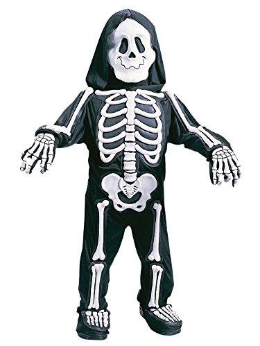 Skelebones Toddler Costume (Fun World Toddler & Boys White Skelebones Costume 3D Skeleton Jumpsuit 4-6)