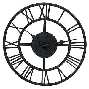 Garden treasures 15 in dia classic metal clock for Garden treasures pool clock