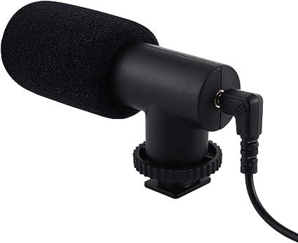Puluz - Micrófono de Audio estéreo de 3,5 mm para videocámara DSLR ...