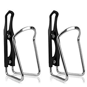 Bike Water Bottle Cage, Bicycle Alloy Lightweight Water Bottle Holder (15 YEARS LIMITED WARRANTY), Cycling Aluminum Water Bottle Cages, Water Bottle Brackets for Sports (2 Pack)