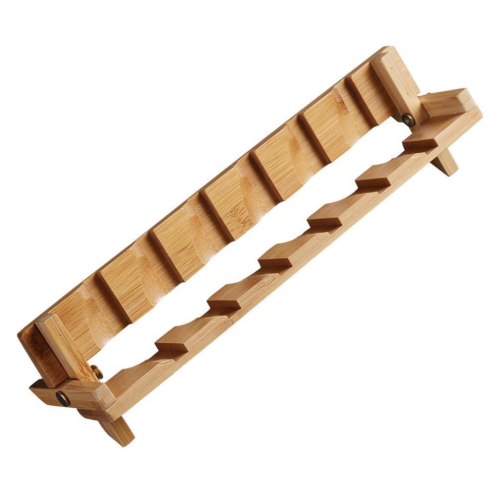BESTONZON Abtropfgestell aus Bambus, faltbar, für Teetassen, Abtropfständer, Ablage, Basteln, Heim- und Bürozubehör