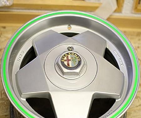 Felgen Rand Aufkleber 6mm X 8 5m Streifen Pin Stripe Auto Motorrad Neon Pink Auto